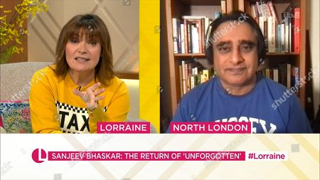 Stock Photo of Lorraine Kelly and Sanjeev Bhaskar