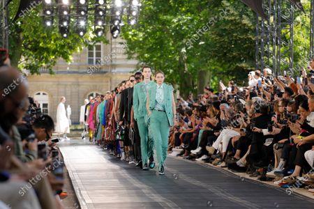 Editorial picture of Berluti show, Runway, Spring Summer 2020, Paris Fashion Week, Jardin de Luxembourg, Orangerie Ferou, France - 21 Jun 2019