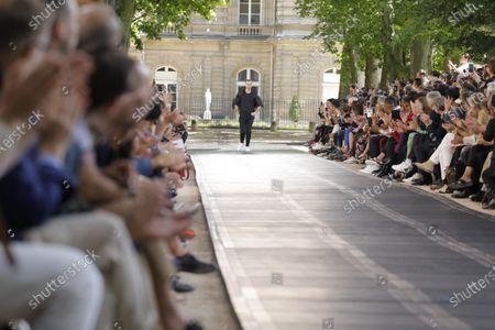 Editorial photo of Berluti show, Runway, Spring Summer 2020, Paris Fashion Week, Jardin de Luxembourg, Orangerie Ferou, France - 21 Jun 2019