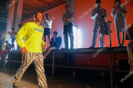 Heron Preston on the catwalk of his own Fashion show in Paris, Spring Summer 2020, Menswear Fashion Week