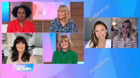 Stock Picture of Charlene White, Linda Robson, Coleen Nolan, Jane Moore, Sam Faiers and Billie Shephard