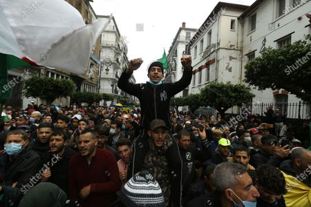 Algerians demonstrate in Algiers to mark the second anniversary of the Hirak movement, . February 22 marks the second anniversary of Hirak, the popular movement that led to the fall of Algerian President Abdelaziz Bouteflika
