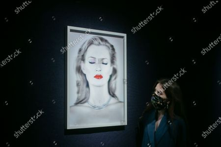 CHRIS LEVINE  (Canadian/British, born 1972), Kate Moss She's Light (Pure), 2014.  Estimate: £20,000 - 30,000 to artwork donated in aid of Oxfam be offered at Bonhams British cool sale