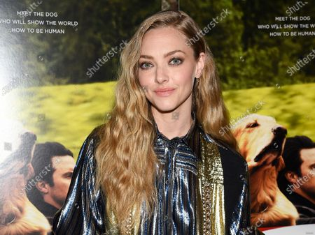 """Actress Amanda Seyfried attends a special screening of """"The Art of Racing in the Rain"""" in New York on . Seyfried stars in the David Fincher film """"Mank"""