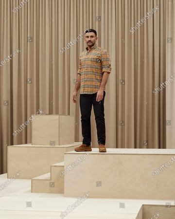 Stock Picture of Riccardo Tisci on the catwalk