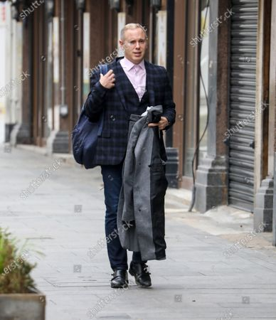 Stock Picture of Judge Rob Rinder seen departing the Global Radio studios in London.