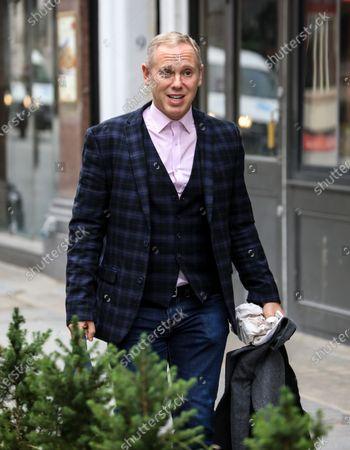 Judge Rob Rinder seen departing the Global Radio studios in London.