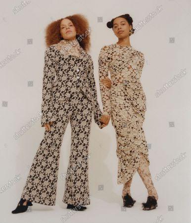 Editorial photo of Womenswear, London, winter 2021, fashion,, Great Britain - Feb 2021