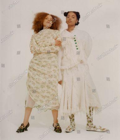 Editorial image of Womenswear, London, winter 2021, fashion,, Great Britain - Feb 2021