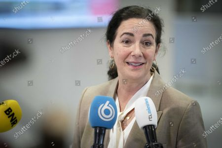 Mayor Femke Halsema of Amsterdam arrives for the Security Council in Utrecht, the Netherlands on 22 February 2021. The mayors of the 25 safety regions discussed coronavirus restrictions and parliamentary elections.