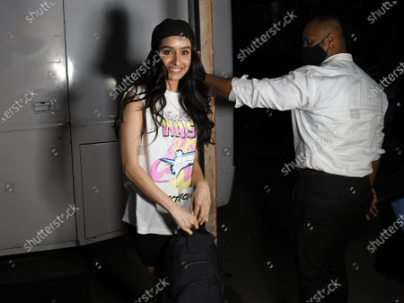 Stock Image of Bollywood actress, Shraddha Kapoor spotted at GM studio in Chandivali, Mumbai.