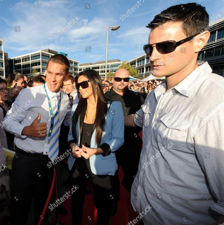 Stock Picture of Guest, Kim Kardashian West and bodyguard Shengo Deane
