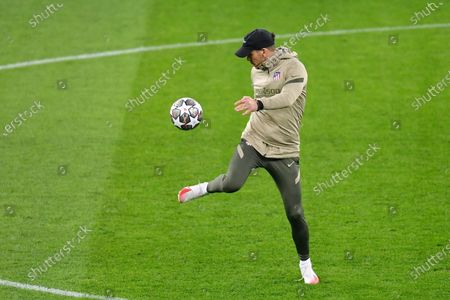 Diego Simeone head coach of Atletico Madrid during the Atletico Madrid training session at National Arena on February 22, 2021 in Bucharest, Romania. (Photo by Alex Nicodim/NurPhoto)