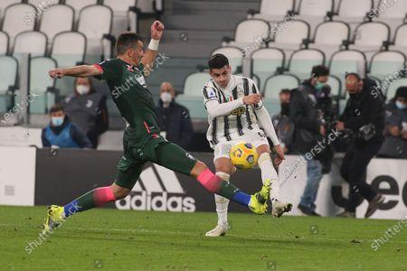 Stock Picture of Alvaro Morata (Juventus FC) in action