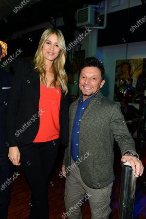 Elena Santarelli and Fausto Gresini