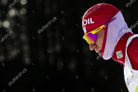 Alexander Bolshunov of Russia in action during a training session prior to the 2021 FIS Nordic Skiing World Championships in Oberstdorf, Germany, 23 February 2021. The FIS Nordic World Ski Championships will be held from 24 February to 07 March 2021.