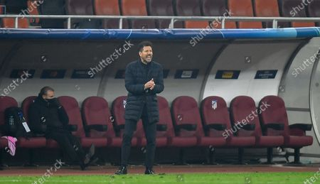 Atletico Madrid manager Diego Simeone on the sidelines
