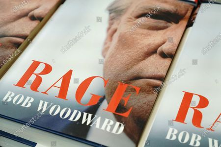 """""""Rage"""" by Bob Woodward is offered for sale at a Barnes & Noble store on September 22, 2020 in New York City. The book, based on interviews that Woodward had with President Donald Trump. (Photo by John Nacion/NurPhoto)"""