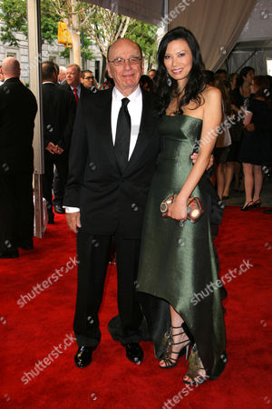 Stock Picture of Rupert Murdoch and wife Wendy