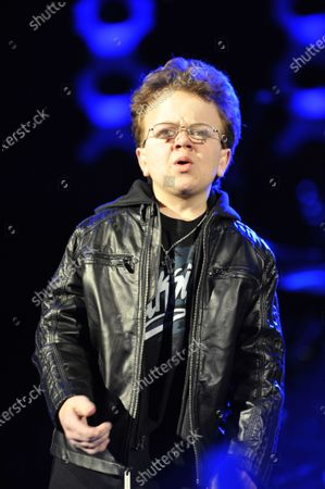Keenan Cahill performs during the B96 Sobe Lifewater Jingle Bash at the Allstate Arena in Rosemont, Illinois
