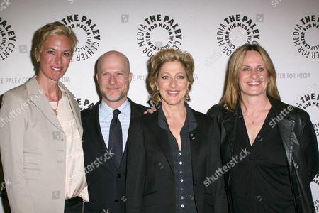 Stock Image of Liz Brixius, Richie Jackson, Edie Falco, Linda Wallem