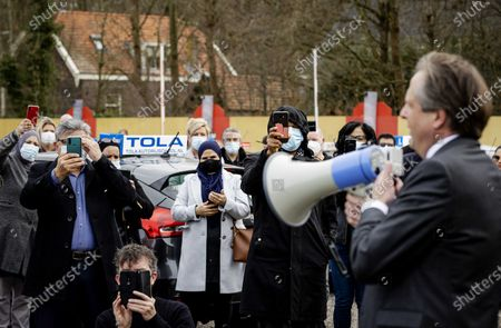 Editorial picture of Driving school owners demonstrate, Rijswijk, Netherlands - 23 Feb 2021