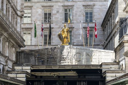 A view of the Savoy Hotel where Gordon Ramsey's Savoy Grill is. Restaurateur Gordon Ramsay reveals he has lost £57M during the Covid 19 pandemic after being forced to cancel thousands of bookings.