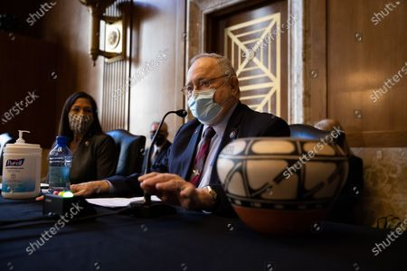 United States Representative Don Young (Republican of Alaska), speaks during a Senate Committee on Energy and Natural Resources hearing on Rep. Deb Haaland's D-NM, nomination to be Interior Secretary, on Capitol Hill in Washington.