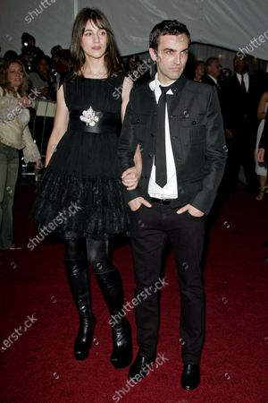 Charlotte Gainsbourg and Nicholas Ghesquiere