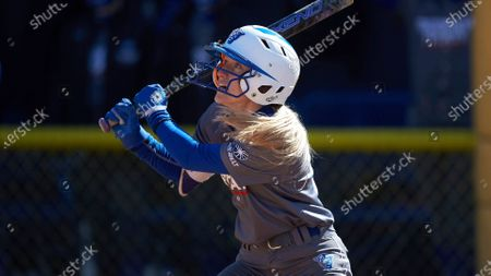 Emily Brown (19) of the Georgia State Panthers during an NCAA softball game against the NC A&T Aggies, in Greensboro, N.C