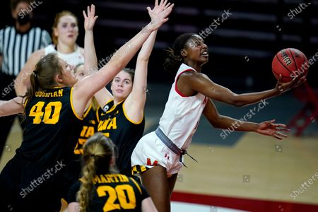 Editorial image of Iowa Maryland Basketball, College Park, United States - 23 Feb 2021
