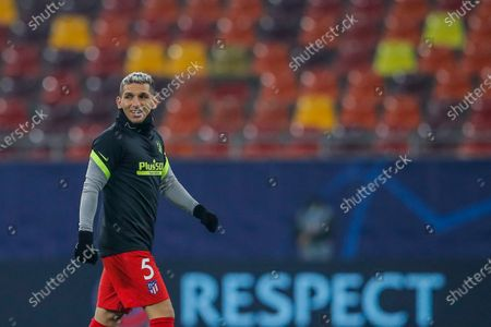 Atletico Madrid's Lucas Torreira during the Champions League, round of 16, first leg soccer match between Atletico Madrid and Chelsea at the National Arena stadium in Bucharest, Romania