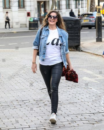 Lucy Horobin seen arriving at the Global Radio Studios in London.