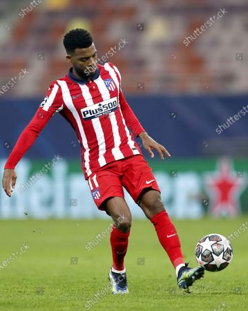 Atletico's Thomas Lemar in action during the UEFA Champions League round of 16, first leg soccer match between Atletico Madrid and Chelsea FC in Bucharest, Romania, 23 February 2021.