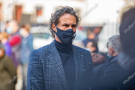 Fabio Galante is seen at Mauro Bellugi Funeral at Basilica of Sant'Ambrogio on February 23, 2021 in Milan, Italy.