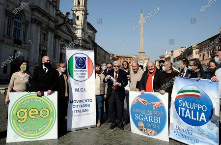 Editorial photo of Vittorio Sgarbi for Mayor, Rome, Italy - 23 Feb 2021
