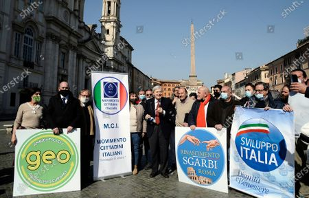 Editorial image of Vittorio Sgarbi for Mayor, Rome, Italy - 23 Feb 2021