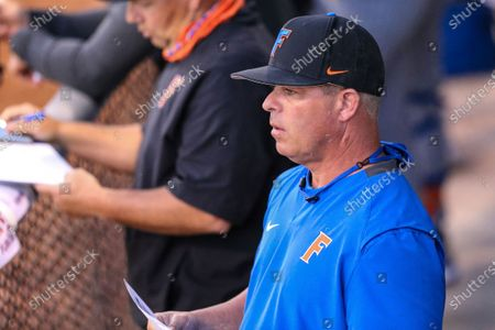 Stock Picture of Florida head coach Kevin O'Sullivan during an NCAA baseball game against North Florida on in Jacksonville, Fla