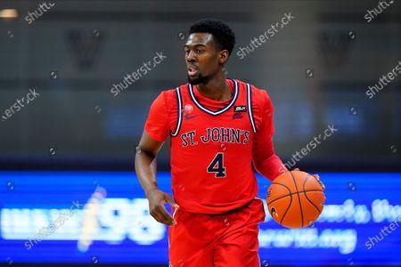St. John's Greg Williams Jr. plays during an NCAA college basketball game against Villanova, in Villanova, Pa