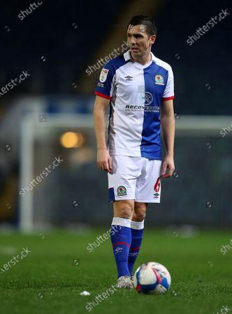 Stewart Downing of Blackburn Rovers prepares to take a direct free kick; Ewood Park, Blackburn, Lancashire, England; English Football League Championship Football, Blackburn Rovers versus Watford.