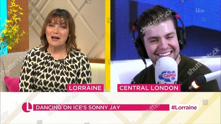 Stock Image of Lorraine Kelly and Sonny Jay