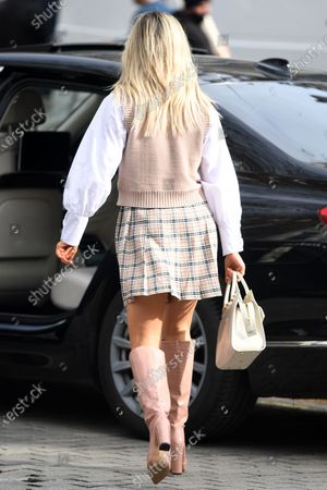 Editorial picture of Ashley Roberts out and about, London, UK - 24 Feb 2021