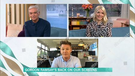 Phillip Schofield, Holly Willoughby and Gordon Ramsay