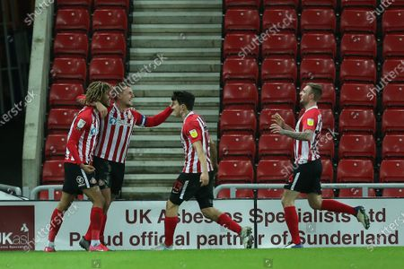 Editorial photo of Sunderland v Fleetwood Town, Sky Bet League One football match, Stadium of Light, UK - 23 Feb 2021