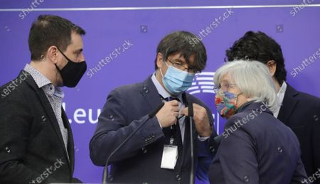 Editorial image of Press conference EU Parliament's lift on immunity of former members of Catalan parliament, Brussels, Belgium - 24 Feb 2021
