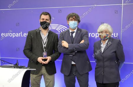 Editorial picture of Press conference EU Parliament's lift on immunity of former members of Catalan parliament, Brussels, Belgium - 24 Feb 2021