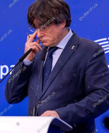 Editorial photo of EU Puigdemont, Brussels, Belgium - 24 Feb 2021