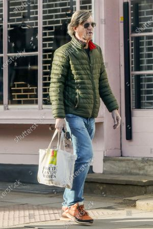 Stock Image of Exclusive - Richard Madeley going to a butchers on Hampstead High Street