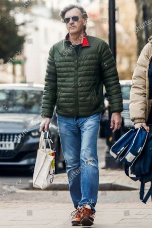 Stock Photo of Exclusive - Richard Madeley going to a butchers on Hampstead High Street