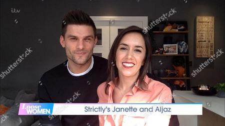 Stock Picture of Aljaz Skorjanec and Janette Manrara
